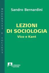 Lezioni di sociologia: Vico e Kant