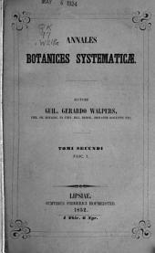 Annales botanices systematicae: Volume 2