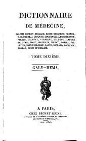 Dictionnaire de médecine: Volume10