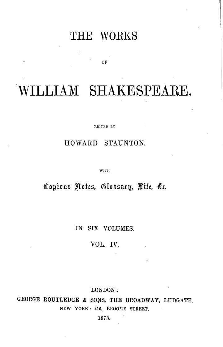 The works of William Shakespeare, ed. by H. Staunton