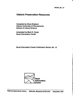 Historic Preservation Resources