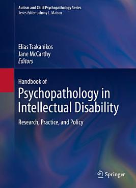 Handbook of Psychopathology in Intellectual Disability PDF