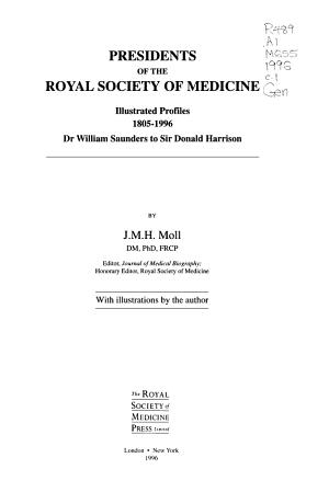 Presidents of the Royal Society of Medicine