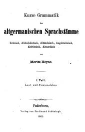 Kurze Laut- und Flexionslehre der altgermanischen Sprachstämme