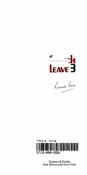 French Leave 3