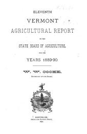 Vermont Agricultural Report ...: Volume 11, Parts 1889-1890