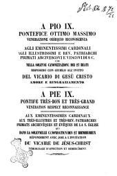 Parole del p. Filippo Balzofiore, agostiniano, cantate nella sala della cancelleria apostolica il dì 16 giugno 1862 da 250 giovani romani diretti dal sig. maestro d. Nazareno Rosati, cappellano cantore della cappella pontificia