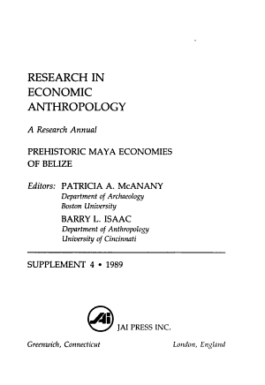 Research in Economic Anthropology