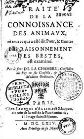 Traité de la connaissance des animaux