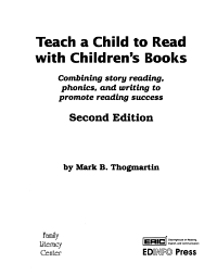 Teach a Child to Read with Children s Books