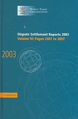 Dispute Settlement Reports 2003 PDF