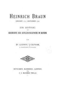 Heinrich Braun  geboren 1732  gestorben 1792 PDF