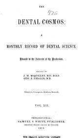 The Dental Cosmos: Volume 12