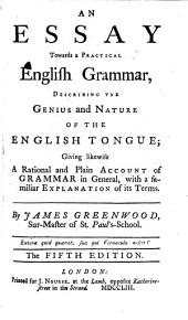 An essay towards a practical English Grammar