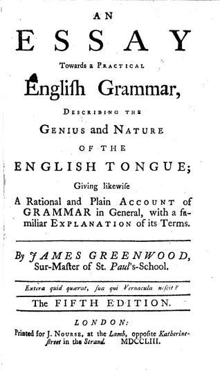 An essay towards a practical English Grammar PDF