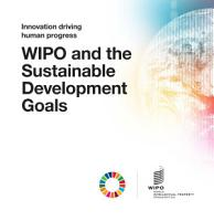 WIPO and the Sustainable Development Goals  PDF