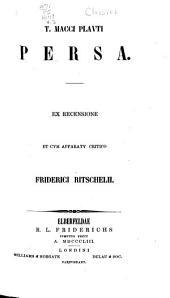 T. Macci Plauti Comoediae: Persa. Mercator