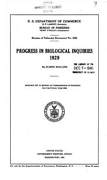 Progress in Biological Inquiries  1929 PDF