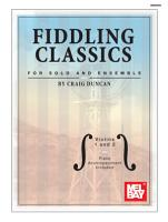 Fiddling Classics for Solo and Ensemble   Violins 1 and 2 PDF