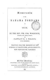 Memoranda of the Bahama tornado of 1850, by W.J. Woodcock and R.J. Nelson