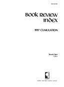 Book Review Index 1997 Cumulation Book PDF