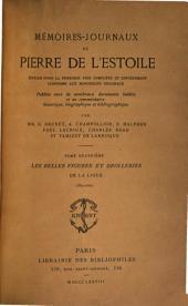 Mémoires-journaux de Pierre de L'Estoile: Les belles figures et drolleries de la Ligue