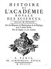 Histoire de l'Academie royale des sciences