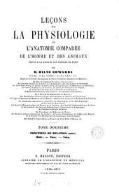 Leçons sur la physiologie et l'anatomie comparée de l'homme et des animaux: Volume12