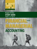 Study Guide to Accompany Financial   Managerial Accounting  Volume 1 PDF