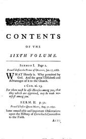 Sermons . Eight discourses on several subjects; with four sermons on the Imitation of Christ