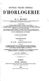 Nouveau traité général dh̓orlogeriel: Volume2