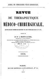 Revue de thérapeutique médico-chirurgicale: Volume1870
