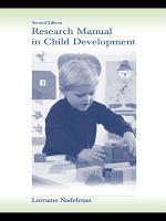 Research Manual in Child Development PDF