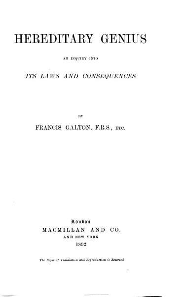 Hereditary Genius PDF