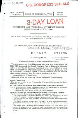 Vocational and Technical Entrepreneurship Development Act of 2005