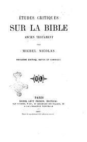 Études critiques sur la Bible: Ancient Testament