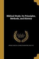 BIBLICAL STUDY ITS PRINCIPLES PDF