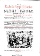 The Ecclesiastical Histories of Eusebius, Socrates, Sozomen, and Theodorit
