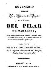 Novenario espiritual a la reina de los ÁngelesMaria Santísima del Pilar de Zaragoza