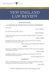 New England Law Review: Volume 48, Number 4 - Summer 2014