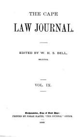 The Cape Law Journal: Volume 9
