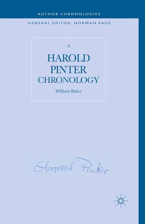 A Harold Pinter Chronology