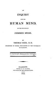 An Inquiry Into the Human Mind  on the Principles of Common Sense Book