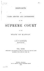 Kansas Reports: Volume 23