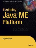 Beginning Java ME Platform PDF