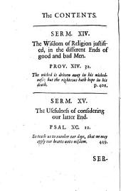 Several discourses of death and judgment, and a future state, viz. Of the immortality of the soul [&c.]. Vol.9 [of Sermons] publ. by R. Barker
