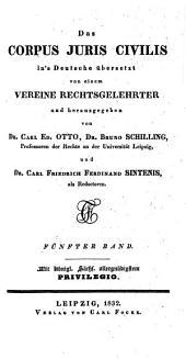 Das Corpus juris civilis: Band 5