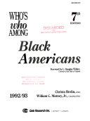 Who's Who Among Black Americans, 1992