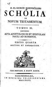 D. Io. Georgii Rosenmülleri Scholia in novum testamentum: Volume 3
