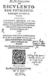 De esculentorum, potulentorumque facultatibus Lib. un
